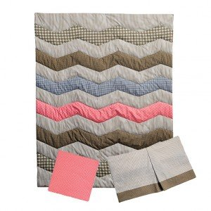 Cocoa Coral 3 Piece Crib Bedding Set for Baby Girl by TippyToesNYC (Image #2)