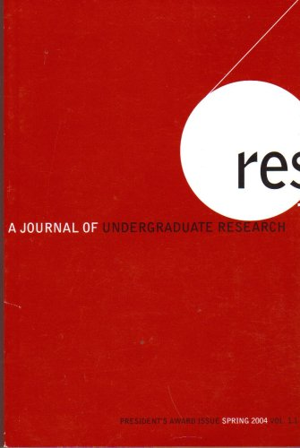 Res a Journal of Undergraduate Research Vol.1 #1 (Res Vietnam)