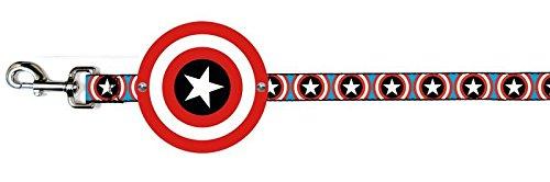Marvel Comics Dog Leash Cape Captain America Shield Cape + Captain America Shield Repeat bluee