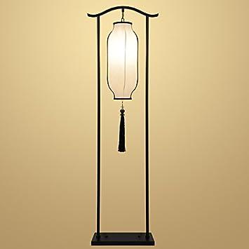 AIKE Lampe de sol orientale Moderne Lampe de sol en fer forgé Avec ...
