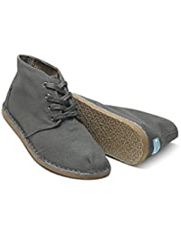 Men's Toms Charcoal Canvas Desert Botas