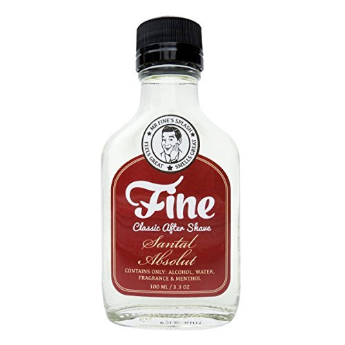 (Mr Fine's Santal Absolut Mens Aftershave -A Splash Of Classic Barbershop Aftershave for Modern Men - The Wet Shaver's Favorite)