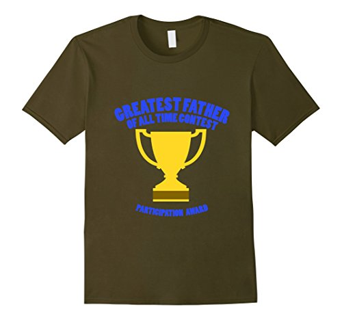 [Mens Mens Participation Award Father's Day Funny Shirt Large Olive] (Funny Award Ideas)