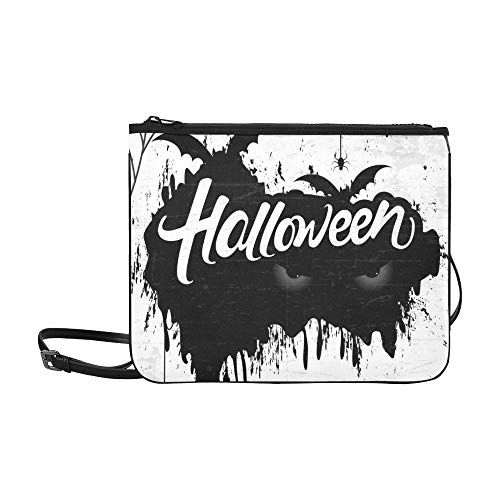 Scary Retro Happy Halloween Stylish Custom High-grade Nylon Slim Clutch Bag Cross-body Bag Shoulder Bag]()