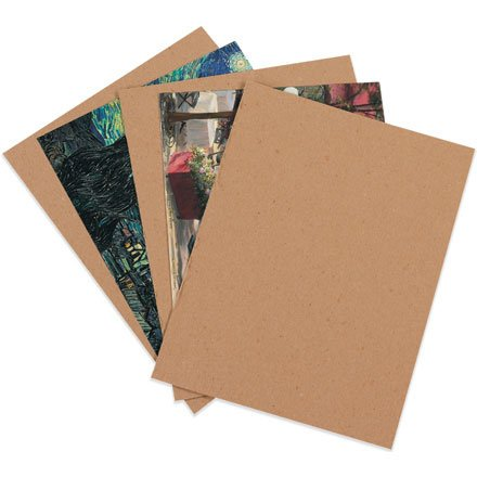 200 8.5x11 Chipboard Cardboard Craft Scrapbook Material Scrapbooking Packaging Sheets Shipping Pads Inserts 8 1/2 inch x 11 inch Chip Board By The Boxery ()