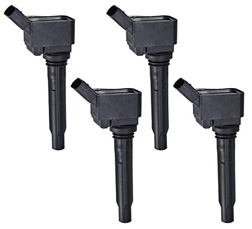 Pack of 4 Ignition Coils for 2013-2016 Volkswagen Beetle Golf Jetta Audi 1.8L 2.0L 06J905110G 06K905110K (Volkswagen Golf 4 Parts)