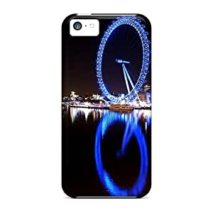 Durable Defender Case For Iphone 5c Tpu Cover(london Eye River Thames)