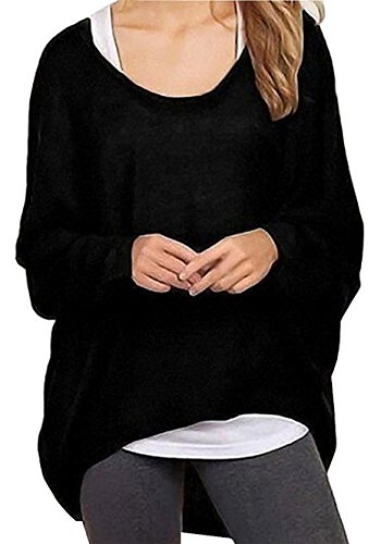 Guandiif Womens Casual Oversized Tops Off Shoulder Batwing Sleeve Shirts Loose Pullover Tops Blouse Baggy