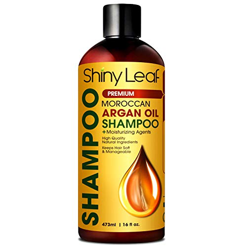 Moroccan Argan Oil Shampoo - Premium Salon Quality Sulfate Free Shampoo for Hair Loss Treatment, Thickens, Strengthens All Hair Types, Leaves Hair Smooth, Huge 16 oz (473 ml) Bottle (Best Quality Argan Oil)