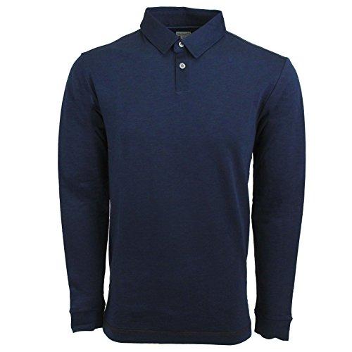 Ashworth Men's AM4096F6 L/S Polo Shirt Navy M