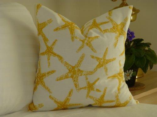Yellow-Starfish-Pillow-Cover-18×18