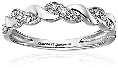 Keepsake Signature 14k Gold Diamond Anniversary Stackable Ring (1/10cttw, H-I Color, I1 Clarity)
