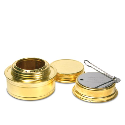 Esbit Brass Alcohol Burner Camping Stove with Variable Temperature Control, Outdoor Stuffs