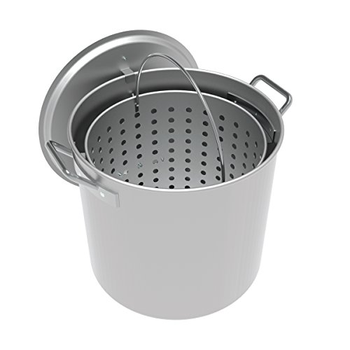 (LoCo Cookers LCPT60 Aluminum Boiling Pot, 60 Quart, Silver)