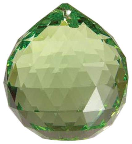 Swarovski 20mm Light Peridot Crystal Faceted Ball Prism (Green Swarovski Glass)
