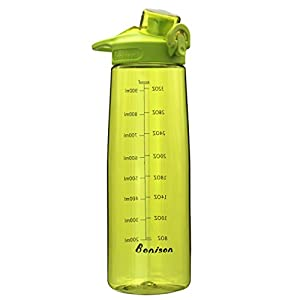 36 OZ Sports Drinking Bottle With Flip Top Lid, Leak Proof, Bpa-Free, For Travel Yoga Running Outdoor Cycling And Camping Green