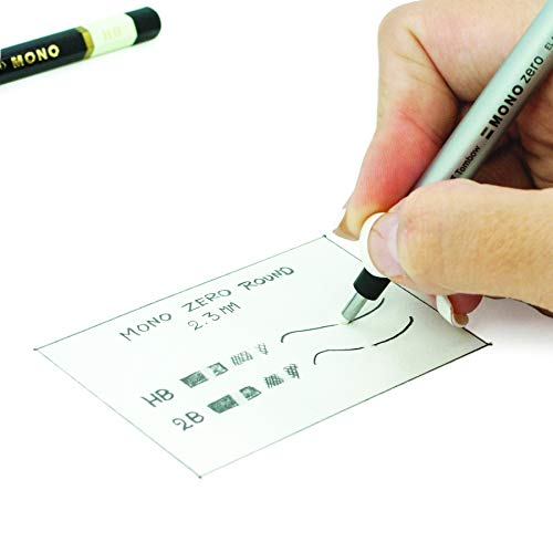 Tombow Holder Eraser, Mono Zero Round Shapre Silver (EH-KUR04) by Tombow (Image #1)