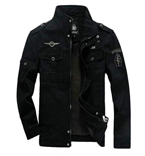 Homme Hommes Kangqi couleur Léger Pour D'extérieur Blouson Vêtements Black Small Taille De EEwYrqa