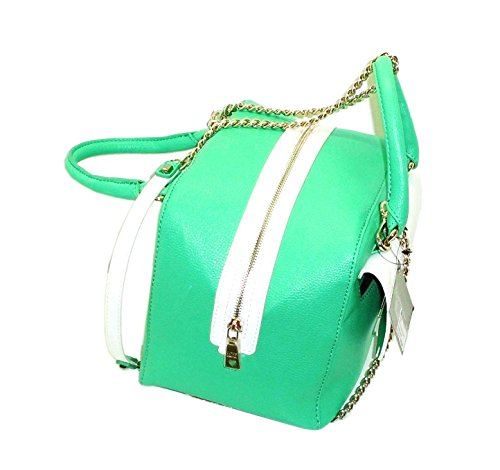 Borsa Love Moschino JC4246 donna women handbag bauletto bicolore verde bianco