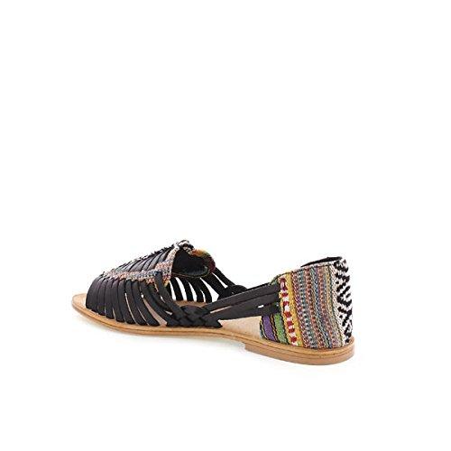 Sandali Mtng Negro Cuero Vaqueta textil 94455 Donna Cuero Negro vaqueta Textil Etnic Nero SwYBHFqw