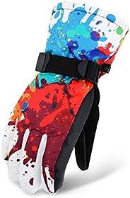 Kidoll Non-Slip wear-Resistant Riding ski Gloves Motorcycle Gloves Wool Snow Mountain ski Snowmobile Windproof