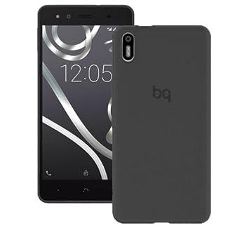 Mb Accesorios Funda Carcasa Gel Negra para BQ AQUARIS X5, Ultra Fina 0,33mm, Silicona TPU de Alta Resistencia y Flexibilidad