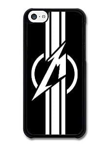 AMAF ? Accessories Metallica Logo Black Background case for iPhone 5C