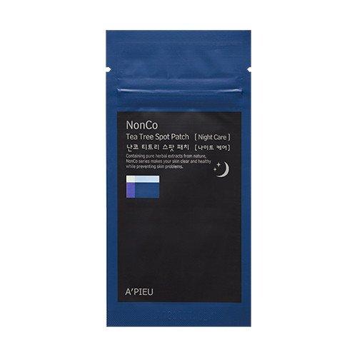 Apieu - NonCo Tea Tree Spot Patch 10 x paquets - Pads à l'huile d'arbre à thé pour lutter contre les rougeurs et les boutons - pour la nuit - Anti Rougeur - l'huile de théier