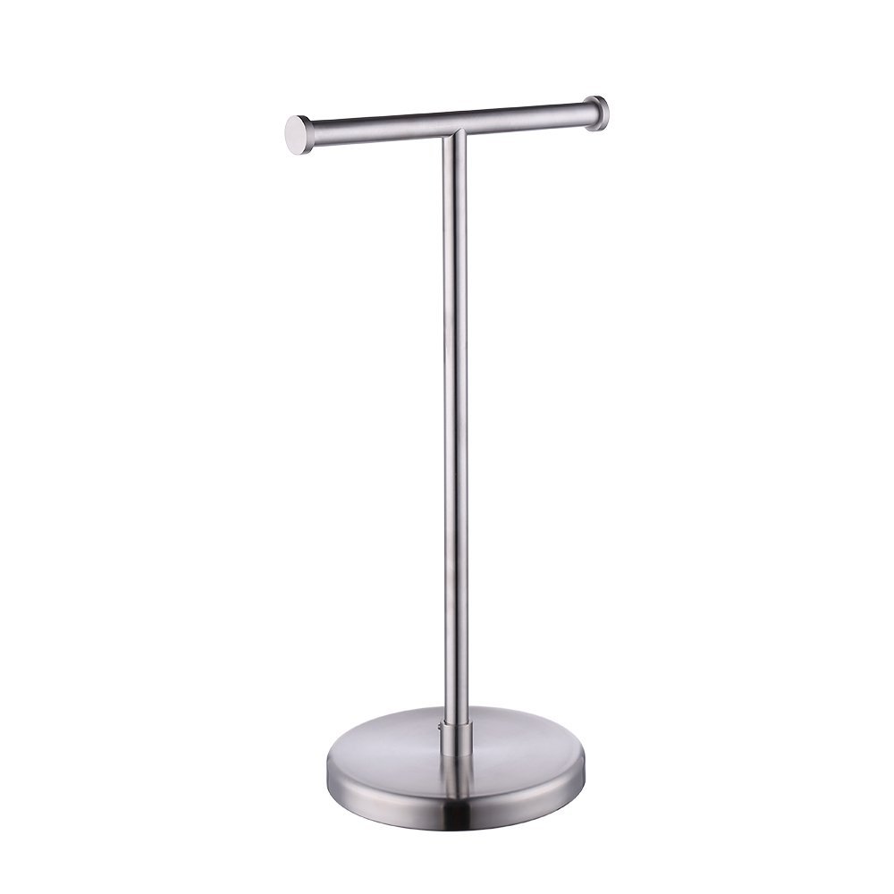 Kes SUS304 Stainless Steel Bathroom Lavatory Pedestal Toilet Paper Holder and Dispenser Free Standing, Brushed, BPH280S2-2