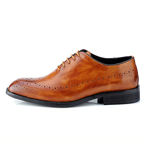 Oxford da Vera Light Scarpe Brogue Uomo Pelle da Scarpe Inglese Uomo Stile Brown Cricket in in Pelle Casual da Oz1wTdqz