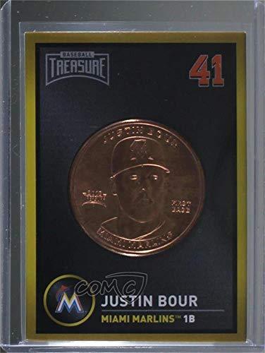 Justin Bour (Baseball Card) 2018 Baseball Treasure Coin Cards - [Base] #JUBO