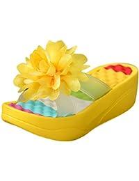 11c0f4f5b87 Nomeni Summer Sandals Platform Flip Flops Slippers Sandals Swing Wedge  Women Hole Shoes