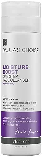 Paula's Choice Moisture Boost One Step Face Cleanser for Normal to Dry, Sensitive Skin - 8 oz