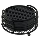 Black Coaster Set - 7-piece