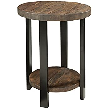 Superieur Alaterre AZMBA1520 Sonoma Rustic Natural Round End Table, Brown
