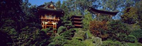 - Posterazzi Pagodas Japanese Tea Garden Golden Gate Park Asian Art Museum San Francisco California USA Poster Print, (18 x 6)