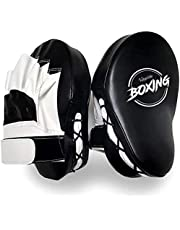 SINCHER Boxing Curved Focus, 1 PCS Punching Mitts, Focus Target Pads, Training Hand Pads, Punching Kicking Palm Pads, Muay Thai Kick, MMA, with Adjustable Strap