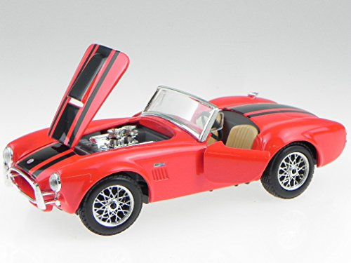 (Maisto 1/24 Scale 1965 Shelby Cobra 427 Diecast Vehicle Red)