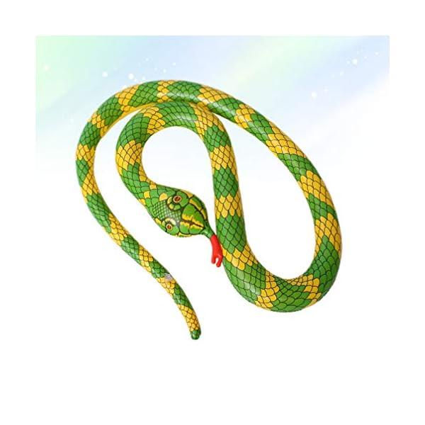 TOYANDONA Serpente Gonfiabile Galleggiante Gonfiabile Giocattolo Palloncino Serpente Spaventoso per Giardino Fattoria… 2 spesavip