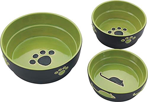 - Ethical Pet Products (Spot) DSO6900 Fresco Stoneware Dog Dish, 7-Inch, Green