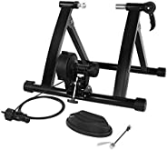 SONGMICS Magnetic Bike Trainer Stand with Noise Reduction Wheel, Black USBT003B01