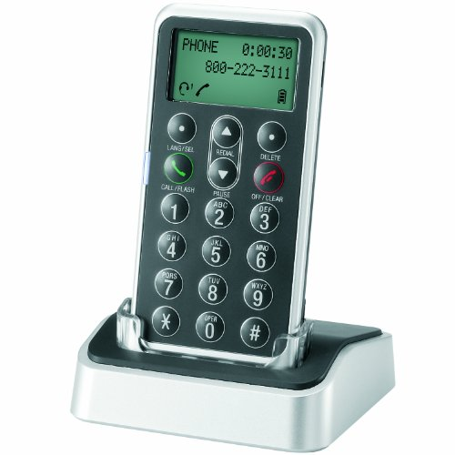 AT&T TL7601 DECT 6.0 Digital Cordless Headset Remote Dial Pad, Black
