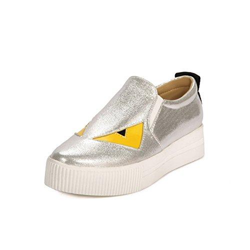 Balamasa Ladies Platform Assortiti Colori Pull-on Uretano Oxford-scarpe Argento