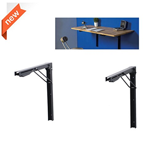 Ultrawall Shelf Brackets, Heavy Duty Adjustable Folding Shelf Workbench Supports,Foldable (Fold Down Workbench)