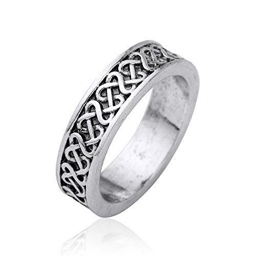Vintage Irish Knot Wedding Ring Punk Rock Style Gothic Rings for Women and Men (size 7.5) (Wedding Skyrim Ring)
