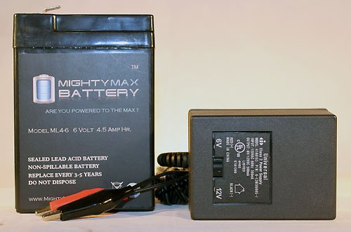 6V 4.5AH Replacement Battery for Mossy Oak Toddler Quad + 6V Charger - Mighty Max Battery brand - Oak Quad
