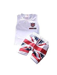 PanDaDa Baby Boys Girls Cotton T-shirt Shorts Pants Outfits Sets 1-4 Years
