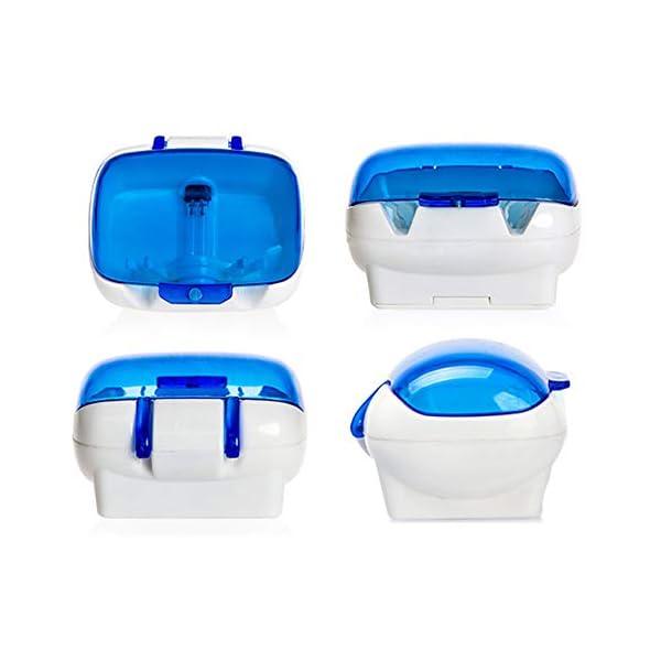 Ainstsk Esterilizador de cepillos de Dientes, Montaje en la Pared, UV, luz de Cepillo, esterilizador, Limpiador… 3