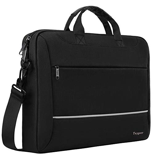 Laptop Bag 15.6 inch, Taygeer Slim Laptop Briefcase for Men Women, Business Portable Carrying Case Computer Shoulder Bag, Tablet Attache Compatible with HP Dell Lenovo Asus Microsoft Surface, Black ()