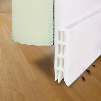 """Under Door Sweep Weather Stripping Door Bottom Seal Strip draft stopper, 2"""" Width x 39"""" Length (White)"""